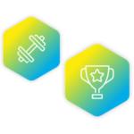 D-Champs Training Hantel Strong Pokal Brave Frankfurt Kickstarter Extended